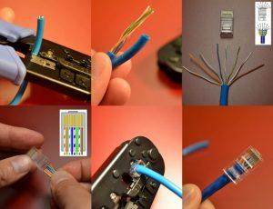 مراحل سوکت زدن شبکه پسیو