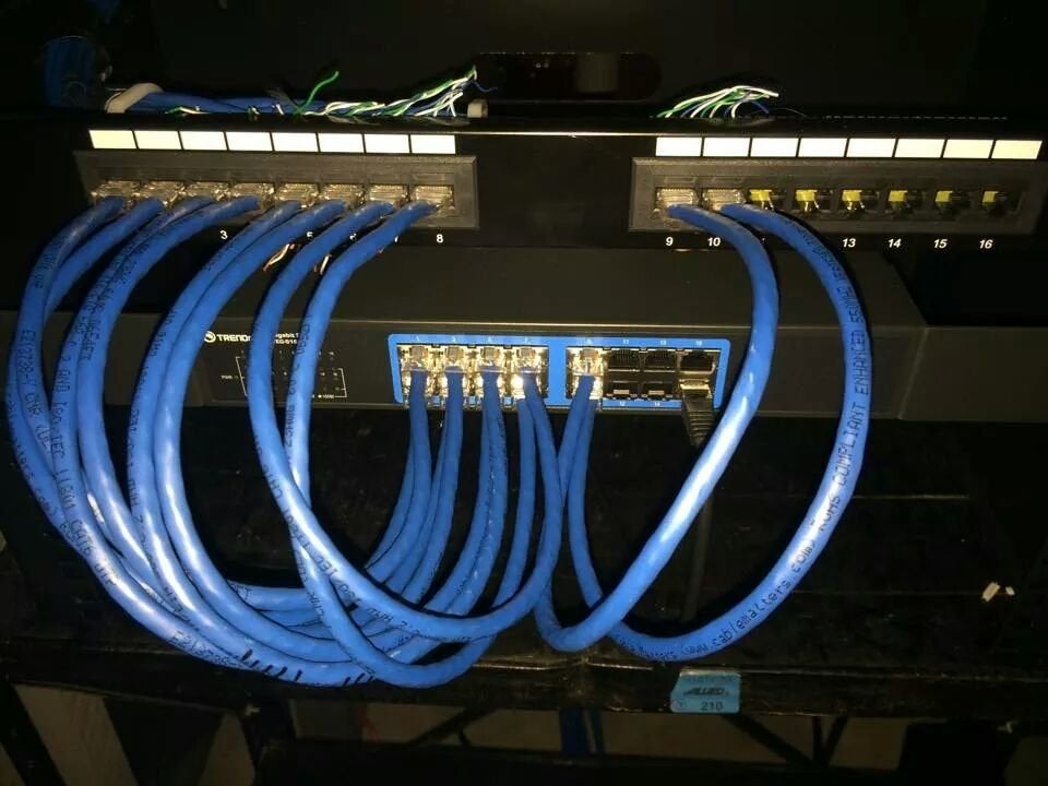 نحوه اتصال پچ کورد از پچ پنل به سوئیچ شبکه